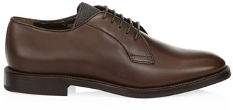 Brunello Cucinelli Lace-Up Leather Oxfords