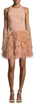 Alice + Olivia Philomena Feather-Skirt Cocktail Dress