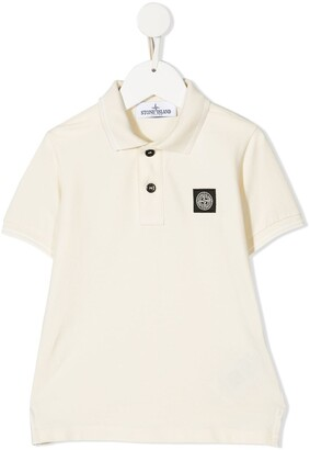 Stone Island Junior Compass Logo-Patch Polo Shirt