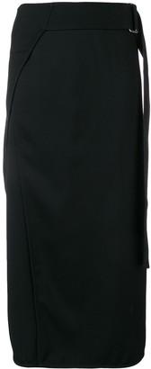 Victoria Beckham Belted Midi Skirt