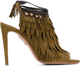 Aquazzura 'Pocahontas' sandals - women - Leather/Suede/Feather - 36