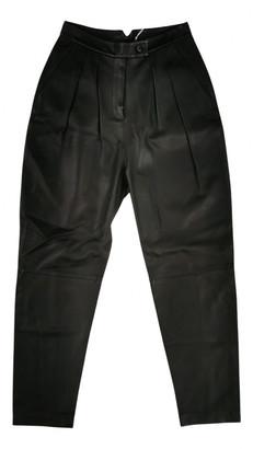Frenken Black Leather Trousers
