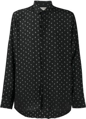 Saint Laurent Anchor Print Shirt