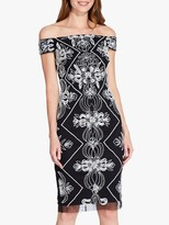 Adrianna Papell Beaded Dress, Black