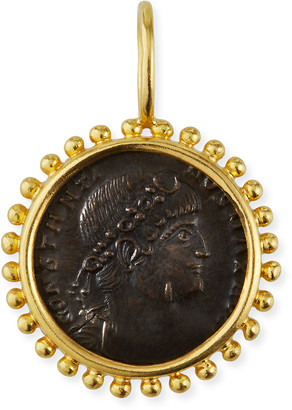 Elizabeth Locke Bronze Coin & 19K Yellow Gold Pendant
