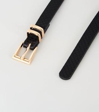 New Look Faux Snake Skinny Belt