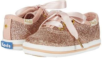 Keds x kate spade new york Kids Champion Glitter Crib (Infant/Toddler) (Rose Gold) Girl's Shoes