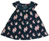 Salt&Pepper SALT AND PEPPER Baby Girls' B Blau Mit Blumen Dresses,12-18 Months