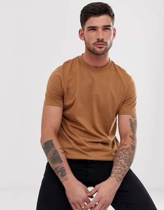 Asos Design DESIGN organic t-shirt with crew neck in brown