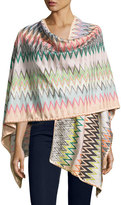 Missoni Zigzag Jersey Shawl, Multicolor