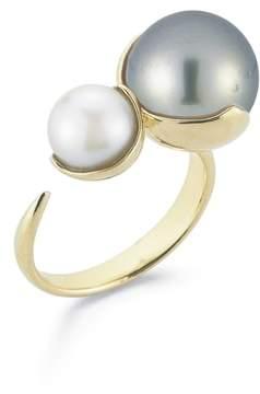 Mizuki Women's Openwork Pearl Ring