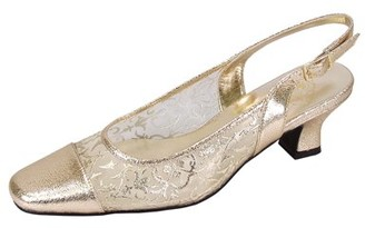 Josie Floral FLORAL Women Extra Wide Width Closed Toe Mesh Slingback