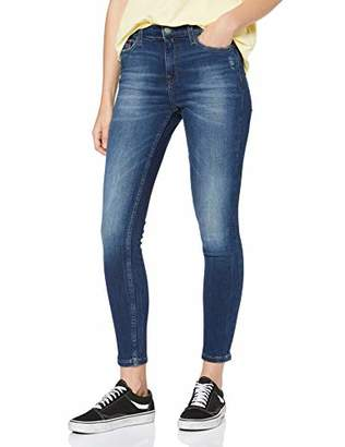 Tommy Jeans Women's Mid Rise Skinny Nora 7/8 Elmd Straight Jeans,W33/L34 (Size: 3433)