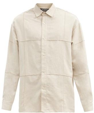 Jacquemus Pintucked-seam Cotton-blend Canvas Shirt - White