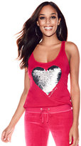 New York & Co. Sequin Heart Tank Top