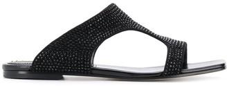 Emilio Pucci Embellished Flat Sandals