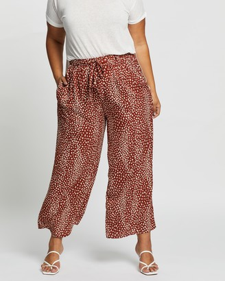 Atmos & Here Atmos&Here Curvy - Women's Brown Cropped Pants - Imani Pants - Size 18 at The Iconic
