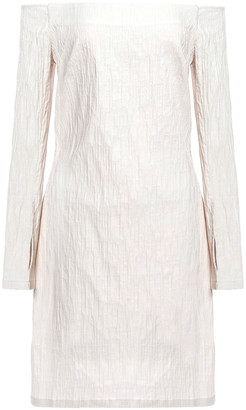 Anna Quan Emily Off-the-shoulder Stretch-jacquard Mini Dress