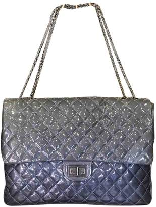 Chanel 2.55 Navy Patent leather Handbags