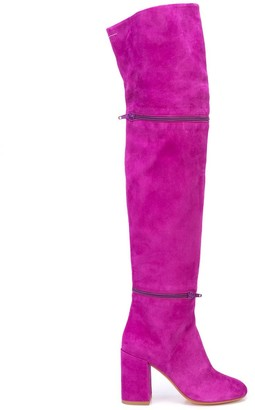 MM6 MAISON MARGIELA Zip Detail Over-The-Knee Boots