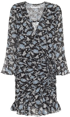 Veronica Beard Sean floral jacquard silk minidress