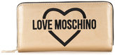 Love Moschino logo embroidered wallet - women - polyurethane - One Size