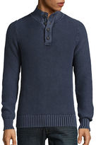 Lucky Brand Washed Out Mock Neck Pullover