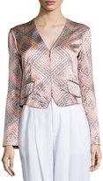 Nanette Lepore Sunset-Print Structured Jacket