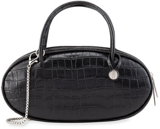 Hayward Mock-Croc Pill Box Top-Handle Bag