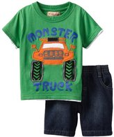 Kids Headquarters Boys 2-7 Tee With D...