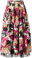 Marc Jacobs Palm belted skirt - women - Silk/Cotton/Polyester/Spandex/Elastane - 4