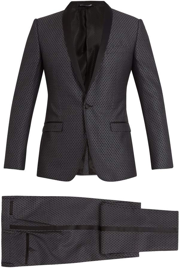 Dolce & Gabbana Two-piece jacquard silk-wool suit