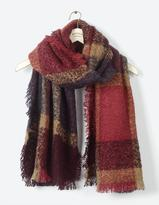 Fat Face Brooke Boucle Check Scarf