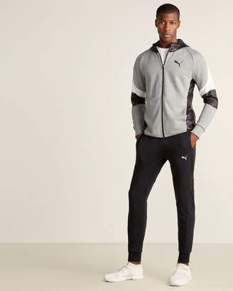 Puma Black and Grey Mixed Material Sweat Suit