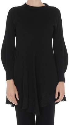 Philosophy di Lorenzo Serafini Lace Trim Flared Sweater