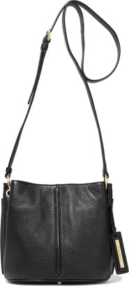 Donna Karan Alan Pebbled-leather Shoulder Bag