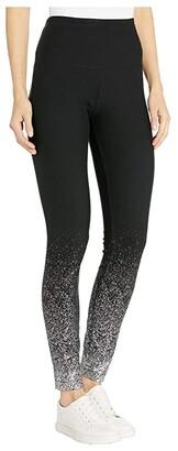 Lysse Shimmer Cotton Foil Leggings (Silver Foil) Women's Clothing