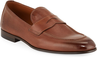 Brunello Cucinelli Men's Leather Penny Loafers