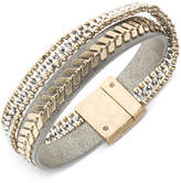 lonna & lilly Two-Tone Leather Multi-Row Flex Bracelet