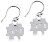 Dayna U Notre Dame Fighting Irish Sterling Silver Dangle Earrings