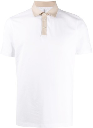 Brunello Cucinelli Two-Tone Polo Shirt