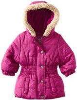 Pink Platinum Baby-Girls Infant Promo Puffer Opaque Circles Jacket