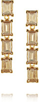 Kenneth Jay Lane Gold-plated Swarovski crystal clip earrings