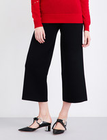 Prabal Gurung Flared cropped knitted trousers