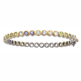 Forever Creations Usa Inc. Forever Creations Silver 19.00 Ct. Tw. Gemstone Bangle