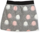 Milly Minis Pompom Modest Skirt, Size 8-16