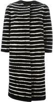 Liska striped mink fur coat