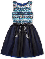 Blush by Us Angels Blush Sequin-Detail Special Occasion Dress, Big Girls (7-16)