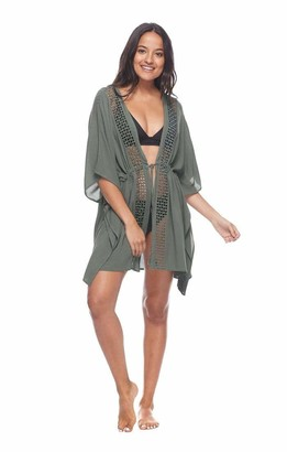 Esky Skye Women's Joy Tie Front Kimono Cover-up