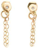 Melissa Joy Manning chain-wrap diamond post earrings
